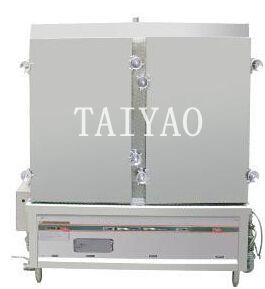 Chinese affordable double door Commercial gas food steamer