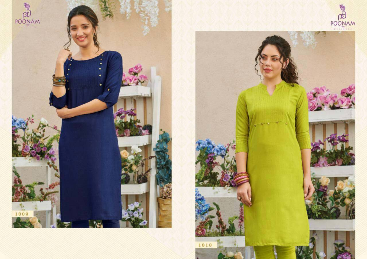 Pure Rayon Kurti With Pintex
