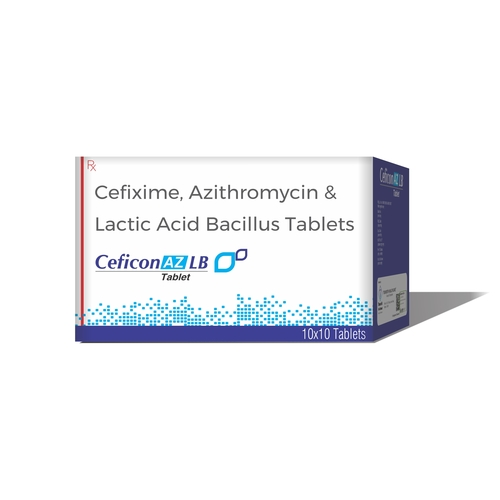 Truworth Ceficon Az Lb (Cefixime + Azithromicin + Lactic Acid Bacillus Tablet)