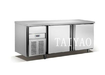 stainless steel worktable refrigerator