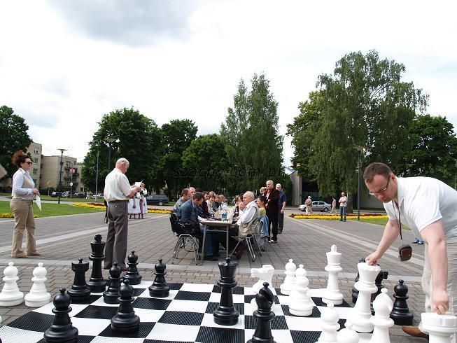 Garden chess pieces - height of king 64 cm