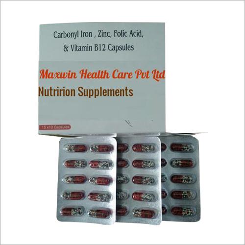 Carbonyl Iron Zinc Folic Acid And Vitamin B12 Capsules