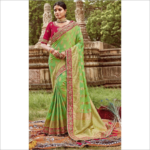 Embroidered Border Saree