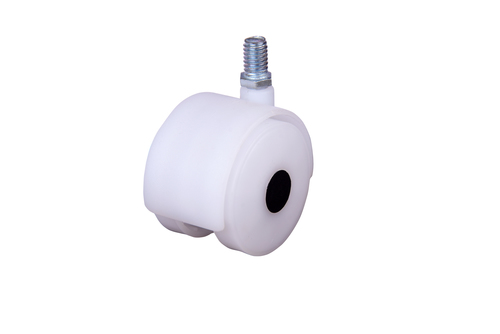 Twin wheel cooler castor [White ] [Thread]