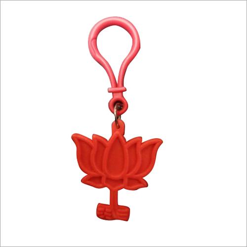 Plastic Lotus Keychain