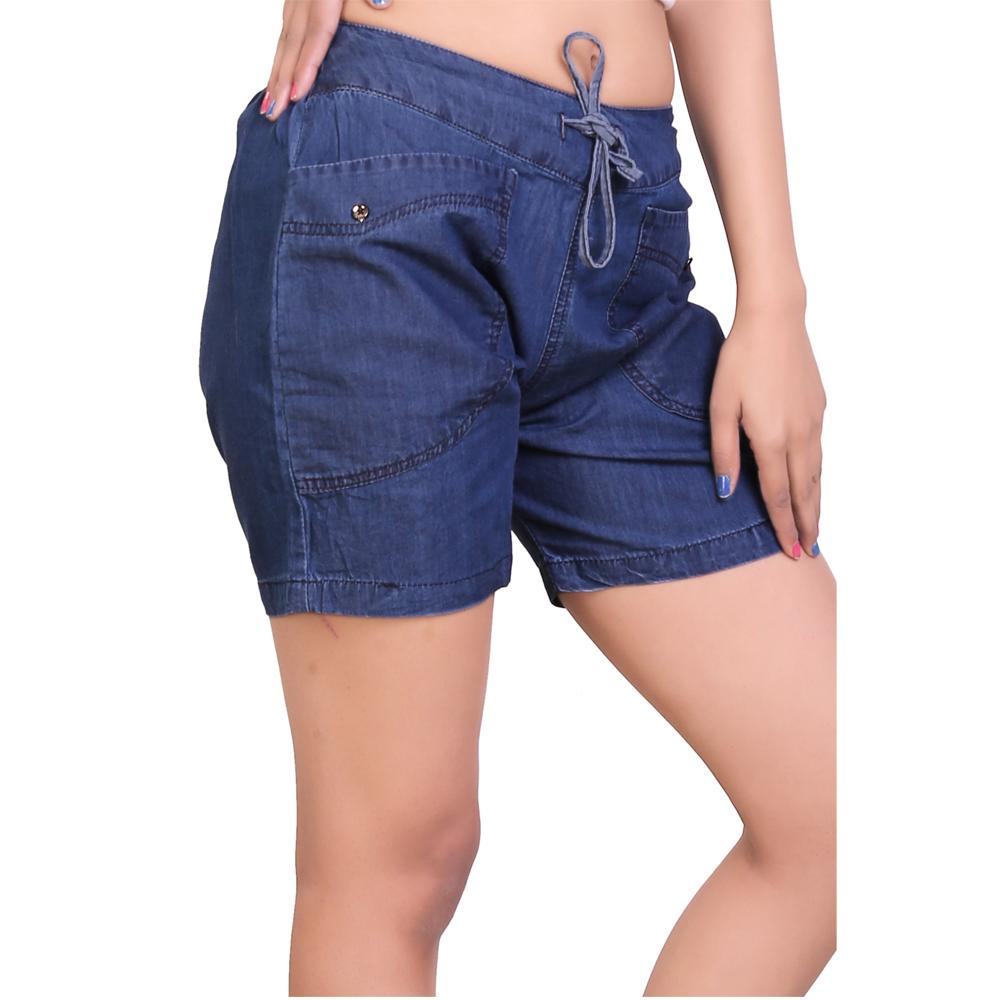 Cotton Denim Fancy Shorts