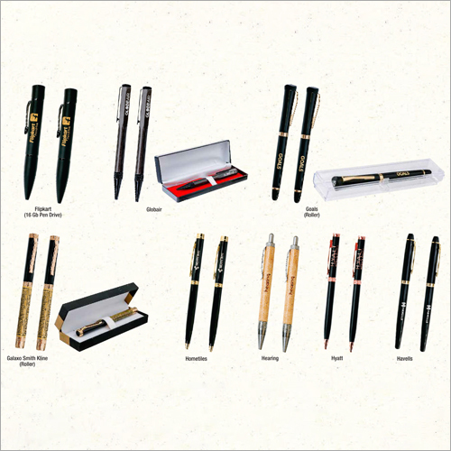 Promotional Logo Print Metal And Wooden Pen