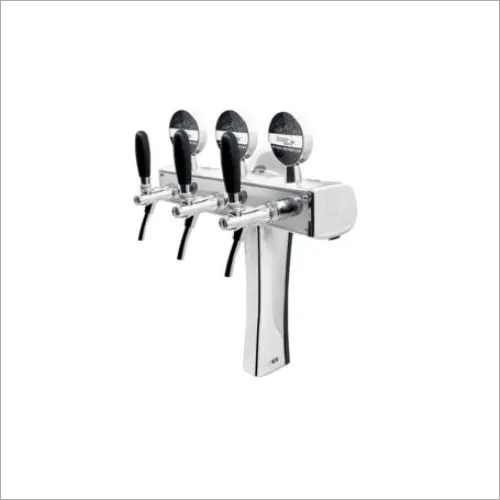 Flexi Back with Three Flow Control Tap-Chrome Plated