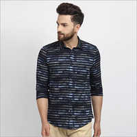 Cape Canary Navy Blue Casual Shirt
