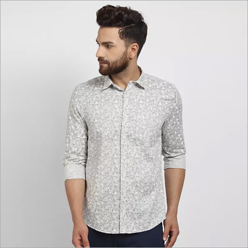 Cape Canary Printed Party Wear Shirt