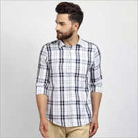 Cape Canary Navy White Blue Checkered Shirt