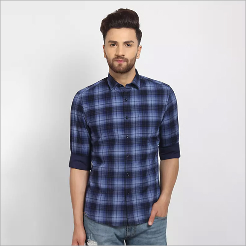 Cape Canary Checkered Blue Casual Shirt