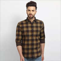 Cape Canary Checkered Gold Yellow Casual Shirt