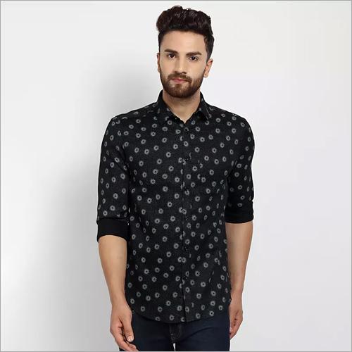 Cape Canary Black Casual Printed Shirt