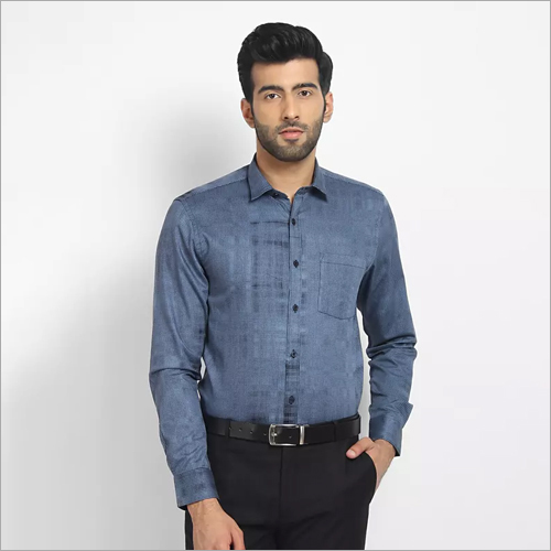Cape Canary Blue Engineered Casual Shirt