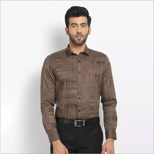Cape Canary Coffee Printed Casual Shirt