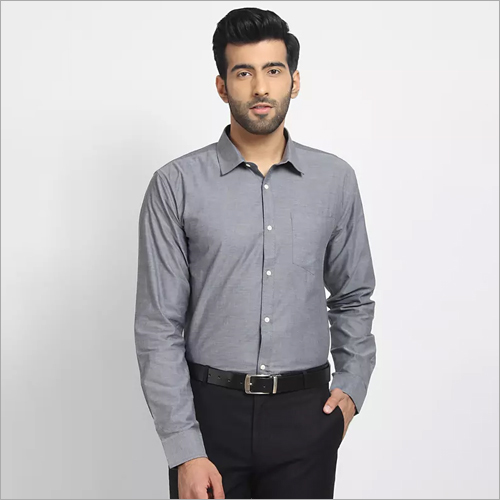Cape Canary Glossy Grey Formal Shirt