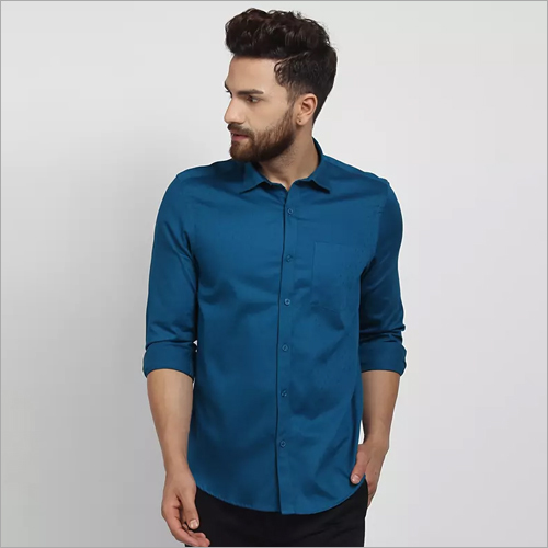 Cape Canary Teal Blue Formal Shirt