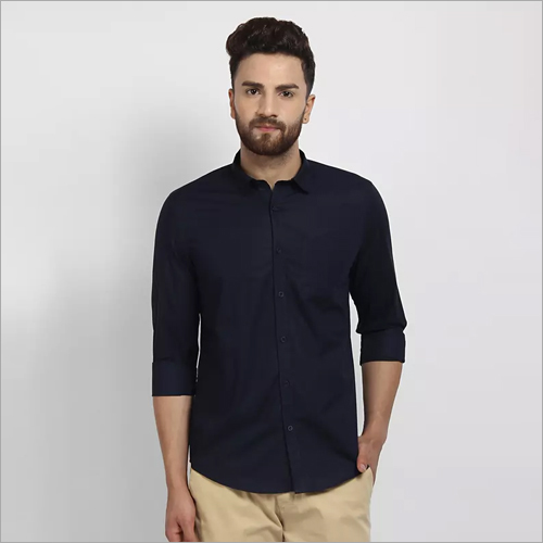 Cape Canary Dark Blue Formal Shirt
