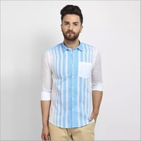 Mens Stripes Regular Fit Shirt