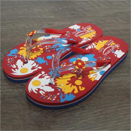 Ladies Printed Fancy Rubber Slippers