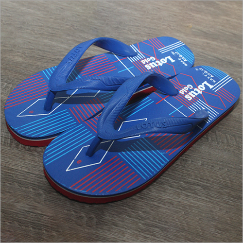 Mens Printed Rubber Slippers