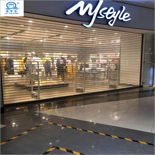 Outdoors Transparent Roller Shutter Door