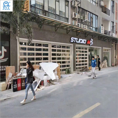 Double Reinforcement Transparent Malls Rolling Shutter Door