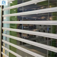 Double Reinforcement Front Shop Transparent Rolling Shutter Door