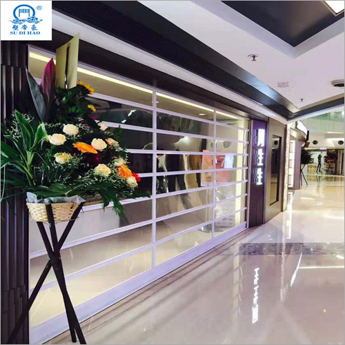 Double Reinforcement Clear Transparent Rolling Shutter Door