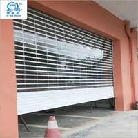 Double Reinforcement Automatic Clear Transparent Rolling Shutter Door