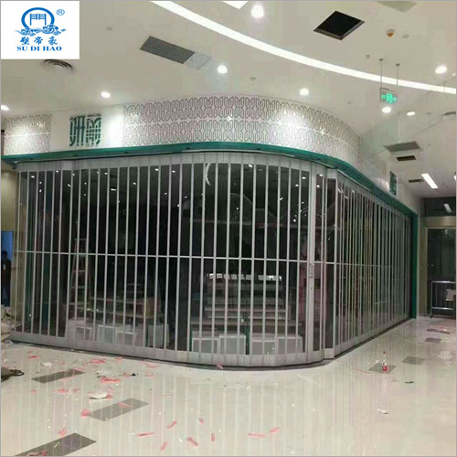 Commercial Security Aluminum Alloy Polycarbonate Folding Door