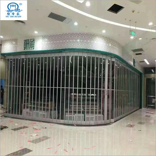 Commercial Security Aluminum Alloy Polycarbonate Folding Door