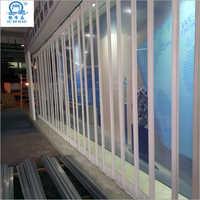 Crystal Clear Aluminum Alloy Polycarbonate Folding Door