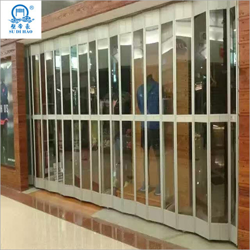 Bulletproof Transparent Aluminum Polycarbonate Folding Door