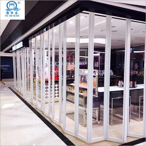 Vertical Transparent Aluminum Polycarbonate Folding Door