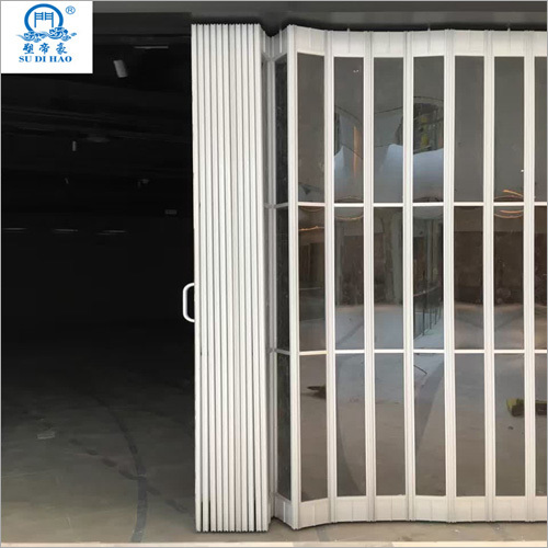 Commercial Automatic Sliding Aluminum Polycarbonate Folding Door