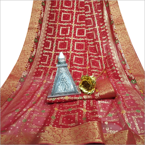 Ladies Bandhej Saree
