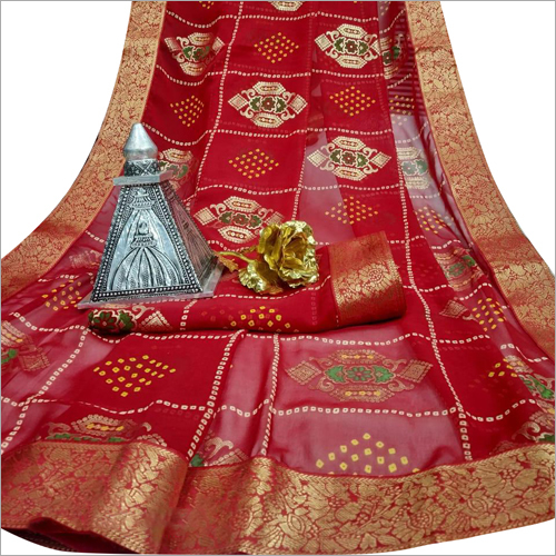 Ladies Fancy Bandhej Saree
