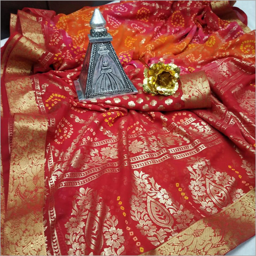 Ladies Designer Bandhej Saree