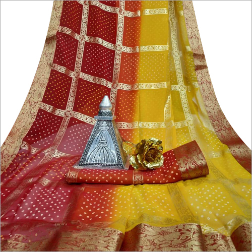 Ladies Stylish Bandhej Saree
