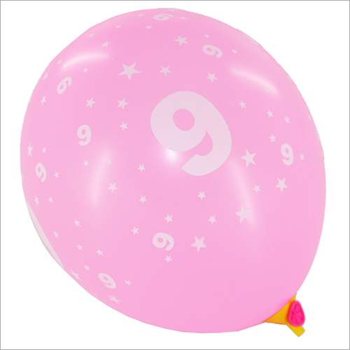 10 Inch Number Printed Balloon