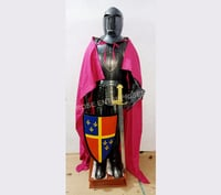 Black Knight Medieval Crusader Suit of Armor Full Suit Armor