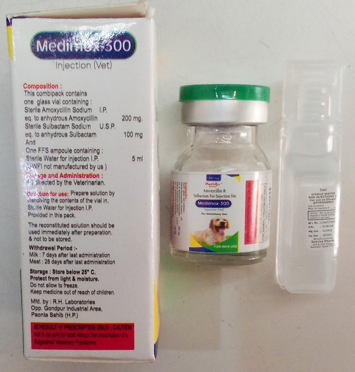AMOXYCILLIN AND SULBACTAM FOR INJECTION VETERINARY