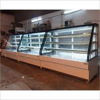 White korean Bakery Display Counter
