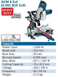 1600 Watt Slide Mitre Saw