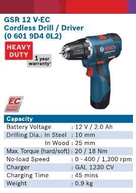 3.6 V Li-Lon Cordless Drill & Driver