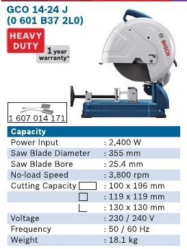 2400 Watt Cut Off Machine