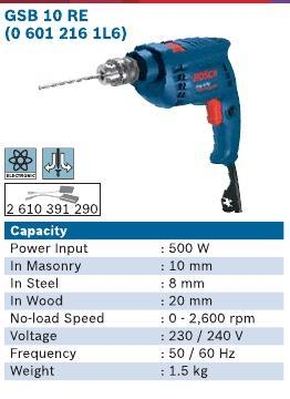 500 Watt Impact Drill