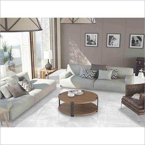 White Glazed Porcelain Floor Tiles